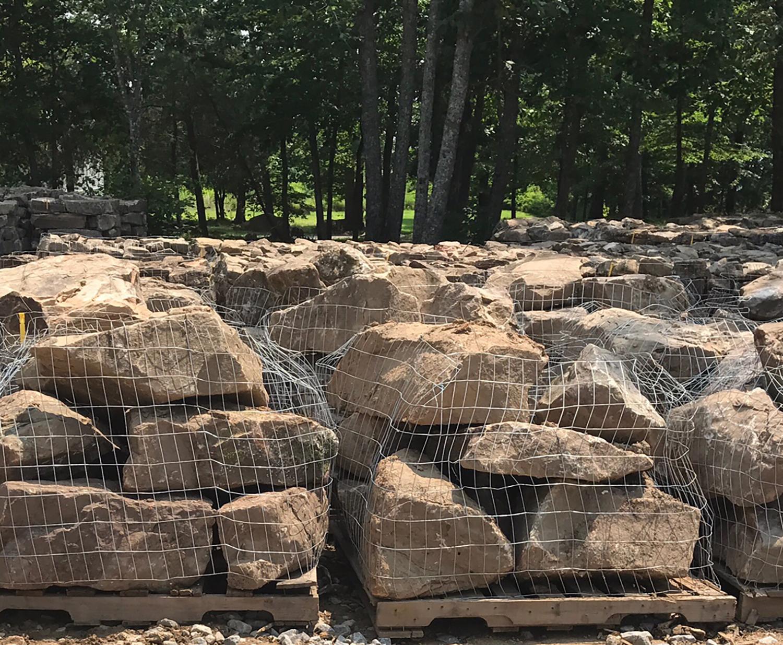 large rock boulders for landscaping